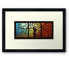 Curly Tree Triptych Framed Print
