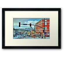 After A Snowstorm In Prescott Arizona  Framed Print