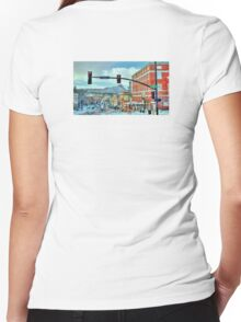 After A Snowstorm In Prescott Arizona  Women's Fitted V-Neck T-Shirt