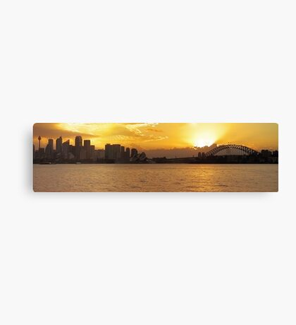 Shadows of a Firey City Canvas Print