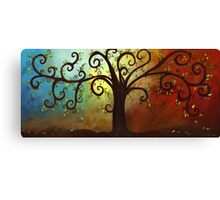 Curly Branches Tree Canvas Print