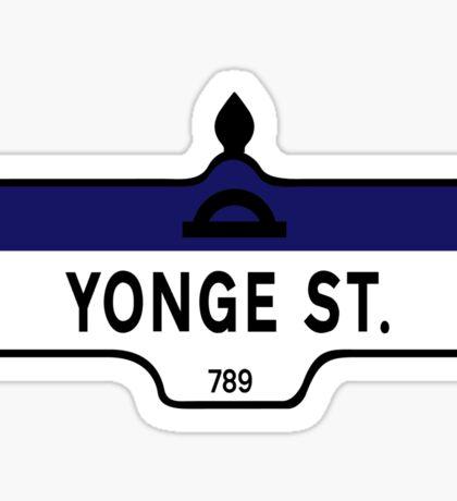 Yonge Street, Toronto Street Sign, Canada Sticker