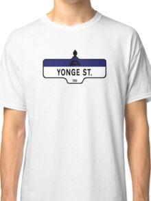 Yonge Street, Toronto Street Sign, Canada Classic T-Shirt