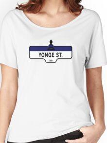 Yonge Street, Toronto Street Sign, Canada Women's Relaxed Fit T-Shirt