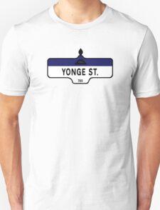 Yonge Street, Toronto Street Sign, Canada Unisex T-Shirt