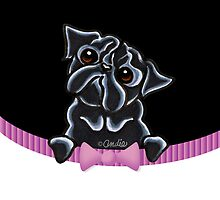 Peeking Black Pug :: Formal Affair by offleashart