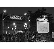 Europe Metro (black and white) Photographic Print