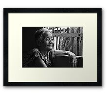 Lola Laraine Favorite Spot 28 in Black and White Framed Print