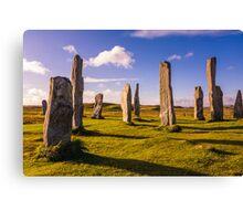 Callanish Stones Early Summer Canvas Print