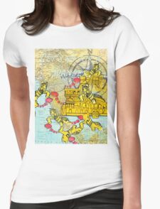Let's go for a wander Womens Fitted T-Shirt