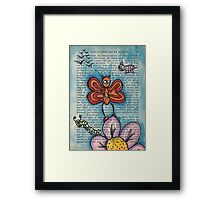 Zombie Butterfly Framed Print