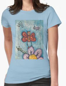 Zombie Butterfly Womens Fitted T-Shirt