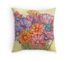 Valentine's Day Flowers Throw Pillow