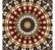 Steampunk Kaleidoscope 13 Photographic Print