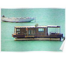 Houseboat at Langebaan Poster