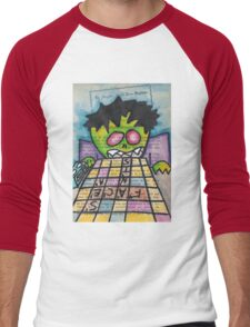 Scrabble Zombie Men's Baseball ¾ T-Shirt