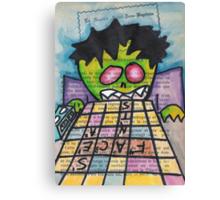 Scrabble Zombie Canvas Print