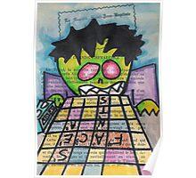 Scrabble Zombie Poster