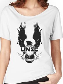 UNSC LOGO HALO 4 - CLEAN LOGO IN BLACK Women's Relaxed Fit T-Shirt