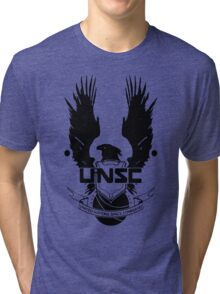 UNSC LOGO HALO 4 - CLEAN LOGO IN BLACK Tri-blend T-Shirt