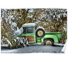 The Old Green Truck Poster