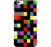 Coloured squares Black iPhone Case/Skin