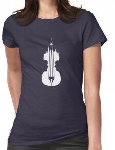 sherlock violin big ben Womens Fitted T-Shirt