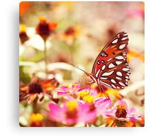 Textured Butterfly Canvas Print