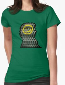 sherlock smiley wallpaper Womens Fitted T-Shirt
