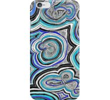 Blue Doodle Call iPhone Case/Skin