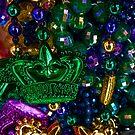 Mardi Gras beads by Celeste Mookherjee