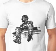 Sitting on a Rooftop Unisex T-Shirt
