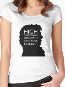 high functioning sociopath Women's Fitted Scoop T-Shirt