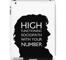 high functioning sociopath iPad Case/Skin
