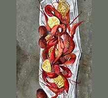 Crawfish Cover by Elaine Hodges