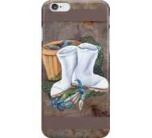 White Boots and Crabs Cover iPhone Case/Skin