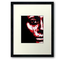 Tear Track Framed Print