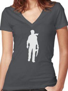 Nathan Drake.  Women's Fitted V-Neck T-Shirt