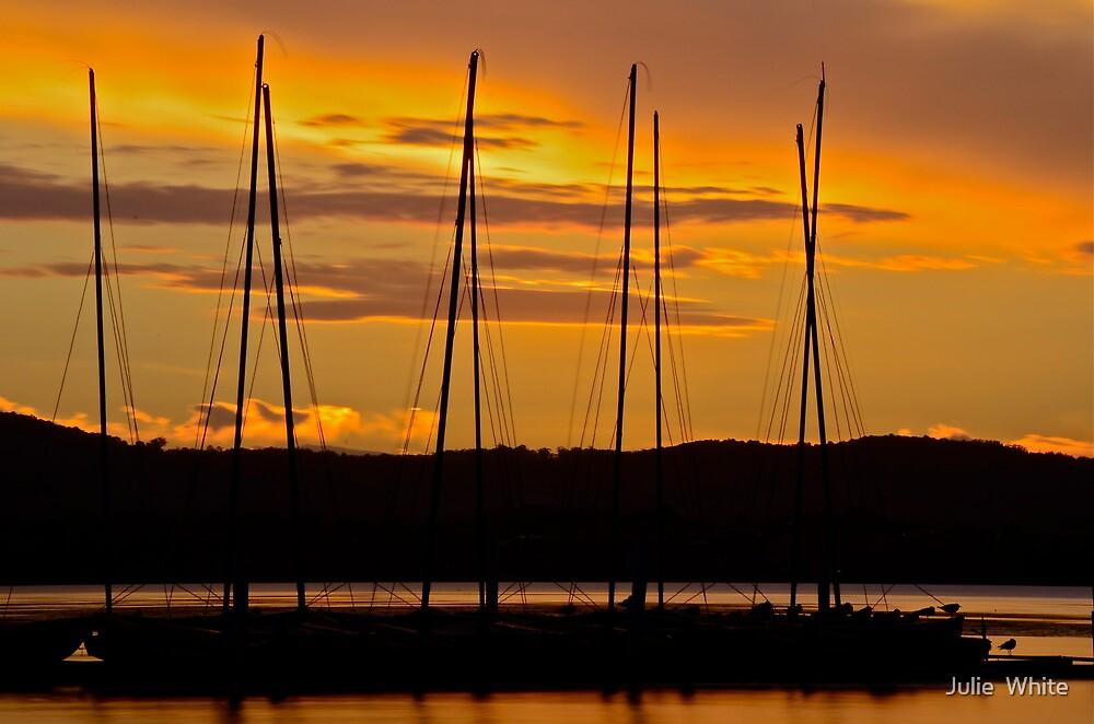 Coastal Sunset. 2 (10-2-12) by Julie  White