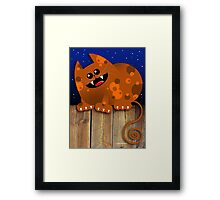 CALICO CAT Framed Print