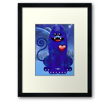 BLUE TOM Framed Print