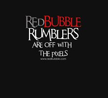 RB Rumble shirt ~ Off with the pixels (white text) Unisex T-Shirt