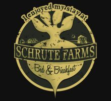 I enjoyed my stay at Schrute Farms (Green) One Piece - Long Sleeve