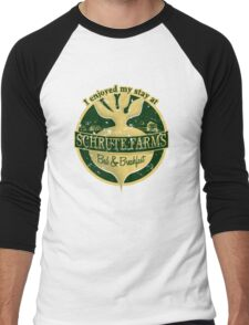 I enjoyed my stay at Schrute Farms (Green) Men's Baseball ¾ T-Shirt