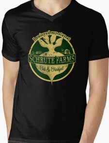I enjoyed my stay at Schrute Farms (Green) Mens V-Neck T-Shirt
