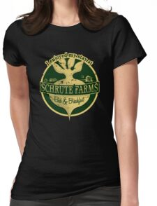 I enjoyed my stay at Schrute Farms (Green) Womens Fitted T-Shirt