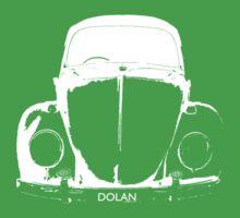 VW Beetle Shirt - White DOLAN - personalised Kids Clothes
