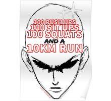 One Punch Man - Training Regimen Poster