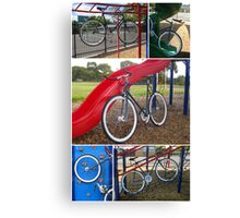 Fixie Playground Collage Canvas Print
