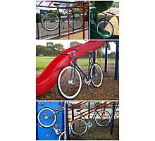 Fixie Playground Collage Photographic Print